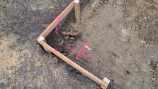 Baugrundgutachten: Bohrung in der Ecke der Bodenplatte